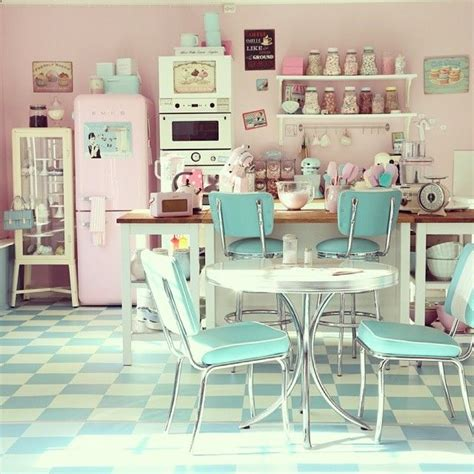 vintage design home instagram retro mutfak dekorasyon fikirleri 2015 pembedekor