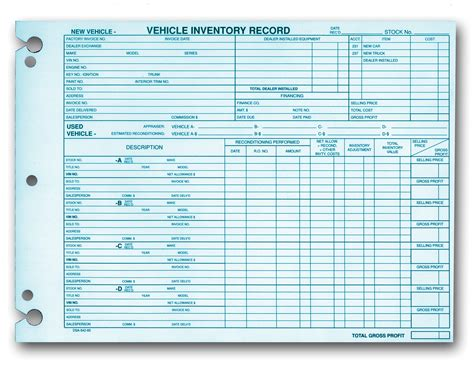Vehicle Records Vehicle Inventory Records Aftermarket Specialties