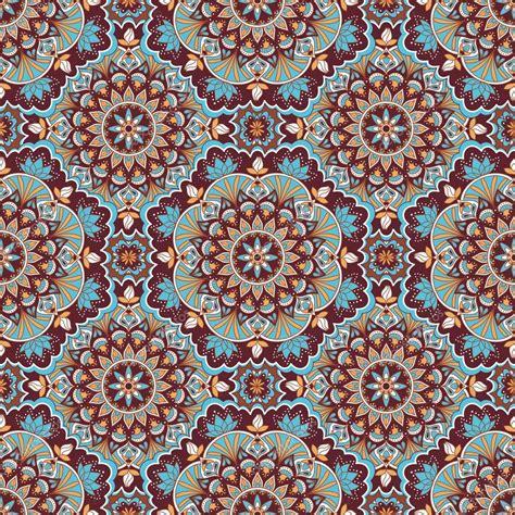 pattern mandala vector mandala color seamless pattern stock vector