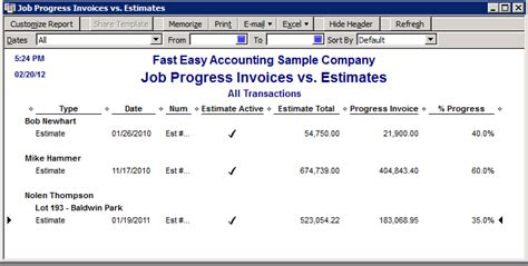 Quickbooks Discounts Report by Quickbooks Estimate Reports