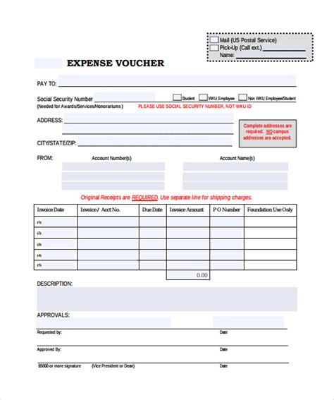 expense voucher template sle expense voucher template 7 free documents in pdf