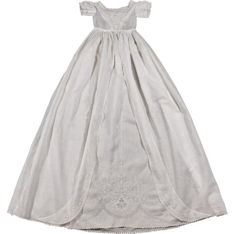 Handmade Christening Gowns - ayrshire christening gown antique handmade embroidery from