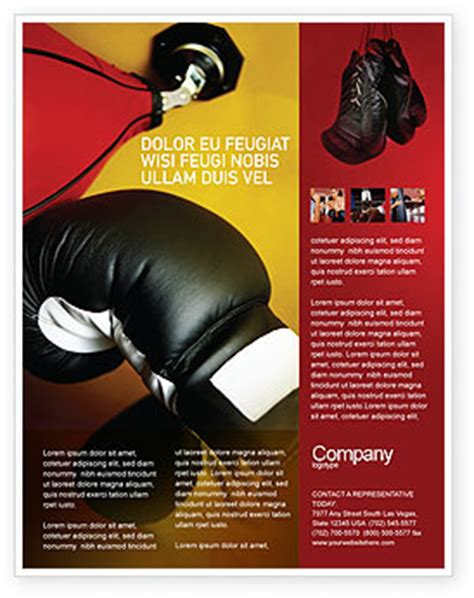 Boxing Training Flyer Template Background In Microsoft Word Publisher And Illustrator Formats Boxing Templates Free