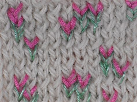 embroider knitting 29 best images about knit embroidery on