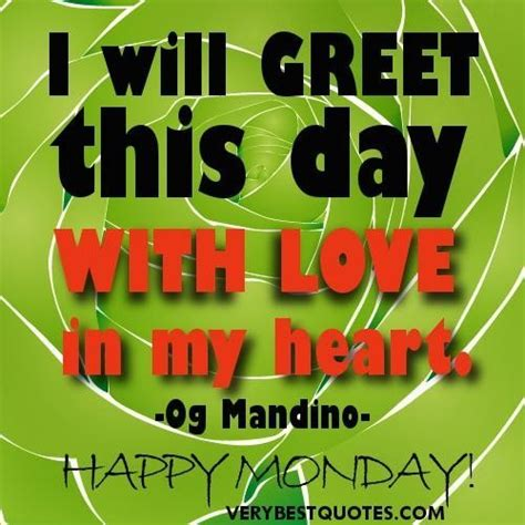day quotes happy monday   greet  day  love   heart collection