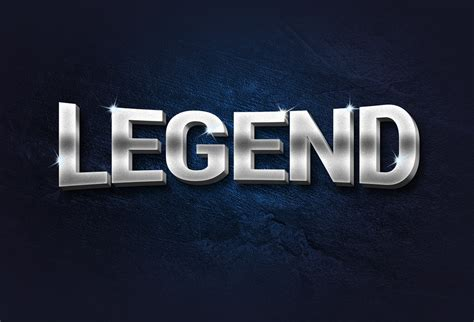 photoshop text templates free legend 3d metal text effect graphicsfuel