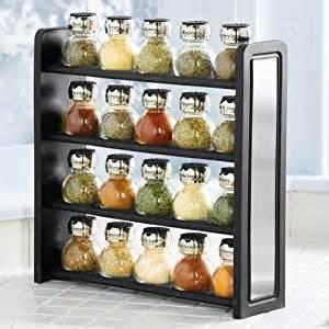 olde thompson 20 jar flat spice rack filled