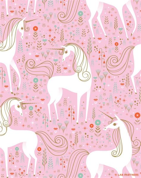unicorn pattern background wallpapers pink unicorns we heart it unicorn