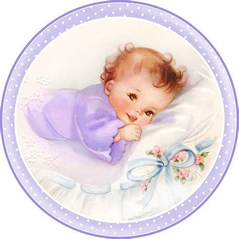 imagenes vintage bebes dulces beb 233 s en almohada para tarjetas toppers o