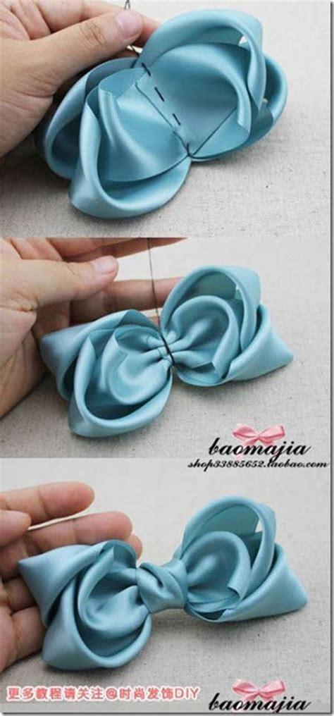 diy satin ribbon bow hair accessory