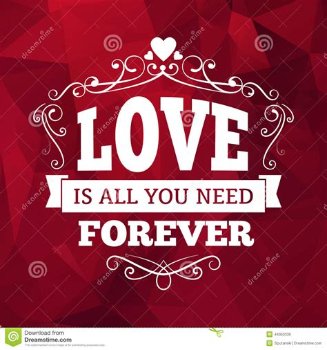 imagenes i love forever wedding typography love you forever vintage card
