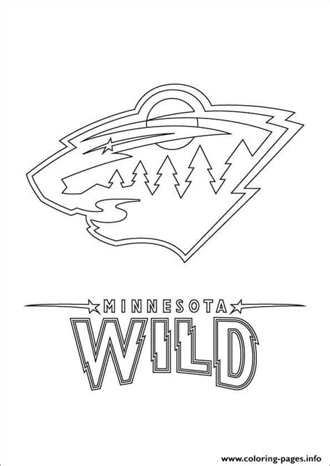 hockey coloring pages pdf minnesota wild logo nhl hockey sport coloring pages printable