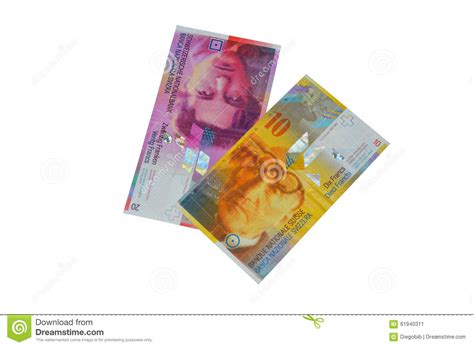 Chf Swiss Franc Currency Stock Photo Image 61940311
