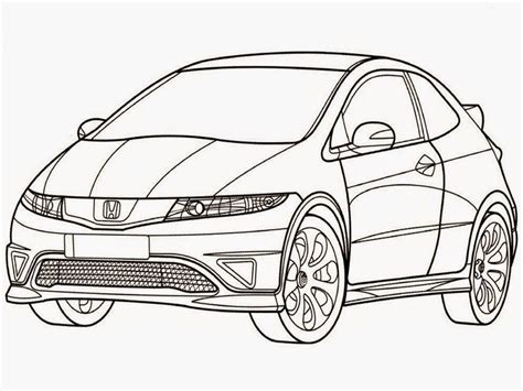 coloring pages honda cars honda civic type r coloring pages realistic coloring pages