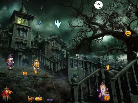 desktop themes with sound halloween screensavers with sound funny halloween themes