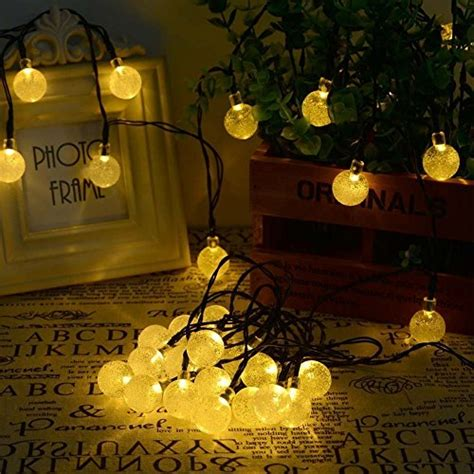 solar power string lights solar power globe string lights 30 led for indoor