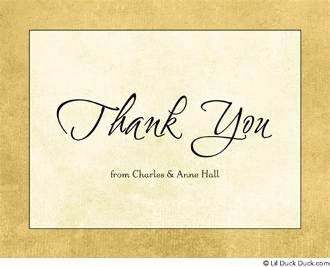 wedding anniversary thank you 50th wedding anniversary thank you cards gold custom