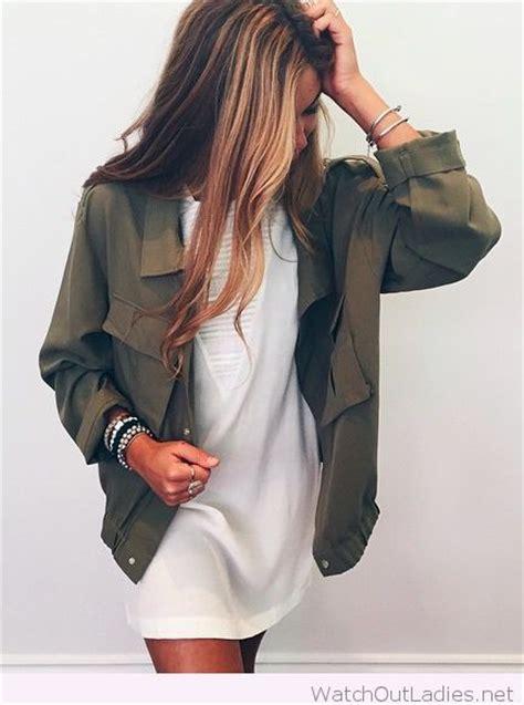 Jaket New Fashion Black Green Orange White Stylish New Impor army green jacket and white dress new york city fashion styles