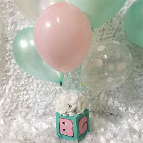 baby block centerpieces baby co baby block centerpieces with balloons and