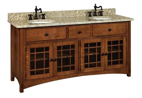 amish bathroom vanity cabinets amish 72 quot lucern mission vanity cabinet