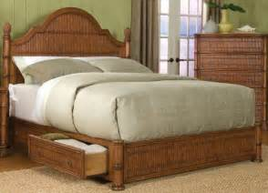 Wicker Platform Bed With Drawers Hospitality Rattan Thomastown Platform Storage Bed By Oj