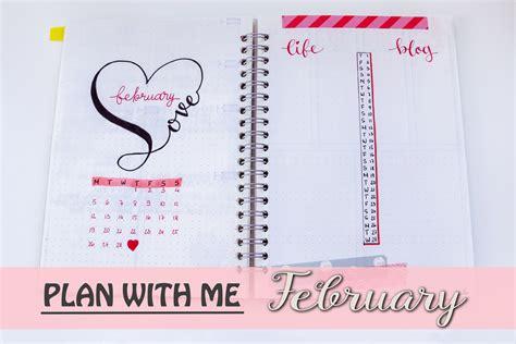 printable journal 2018 plan with me february 2018 bullet journal setup free