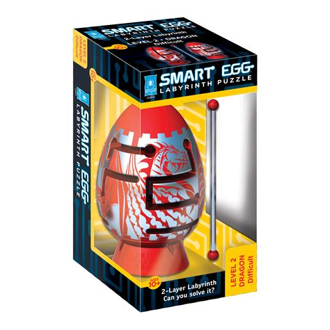 Bepuzzled Smart Egg 2 Layer Labyrinth Puzzle Red Dragon Difficult Toys Games Puzzles Smart Puzzle
