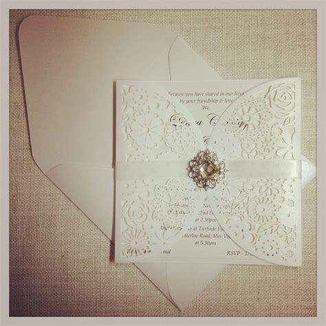 Luxe Laser Cut Wedding Invitation - luxe floral paper lace laser cut wedding invitation4 jpg