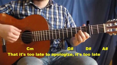 tutorial de one republic aprender apologize timbaland ft one republic guitarra hd