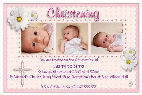 christening card template baptism invitation card baptism invitation card free