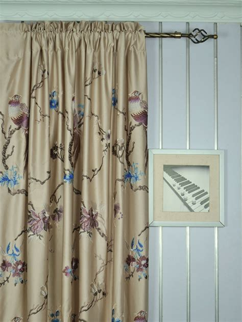 franklin curtains franklin light apricot embroidered branch eyelet faux silk