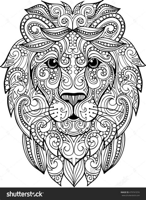zentangle lion zentangle spiratie pinterest hand drawn doodle zentangle lion illustration decorative