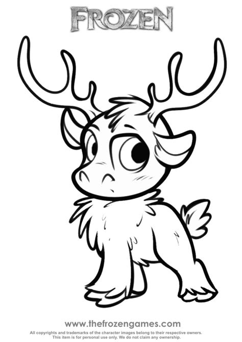 frozen coloring pages sven only coloring pages