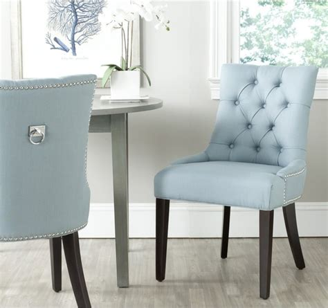 Light Blue Dining Room Chairs with Safavieh Harlow Light Blue Ring Chair Set Of 2 Contemporary Dining Chairs By Overstock