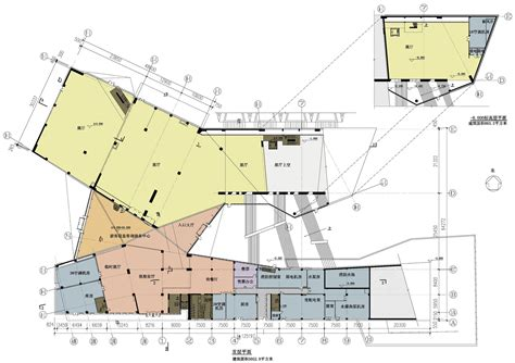 floor plan of a museum museum of the fangshang geopark biad archdaily