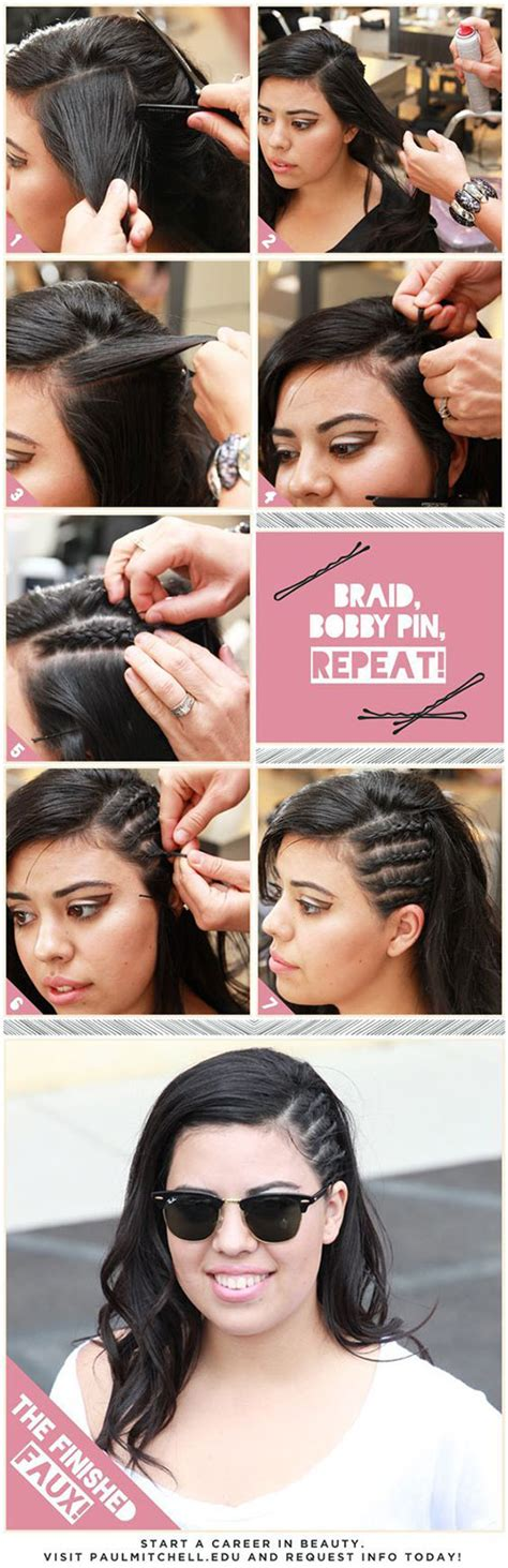 one side shaved hairdo tutorials 12 easy step by step summer hairstyle tutorials for