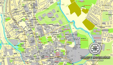 printable street maps uk oxford england uk great britain printable vector street