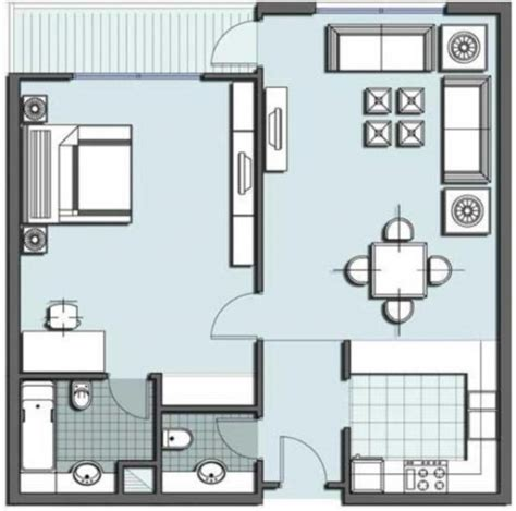 single level tiny house one room floor plan for small house home constructions