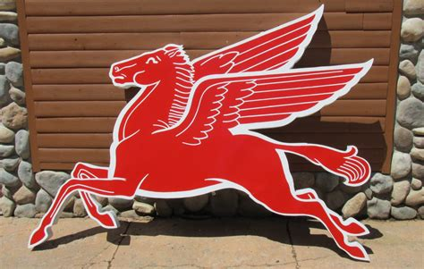 mobil pegasus sign reproduction mobil pegasus cookie cutter sign
