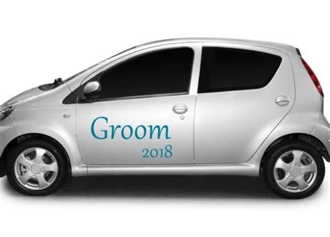 Auto Sticker Hochzeit by Autoaufkleber Hochzeit Groom Mit Jahreszahl