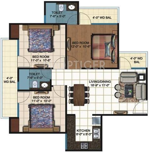 1200 sq ft floor 3 bhk floor plan 1200 sq ft