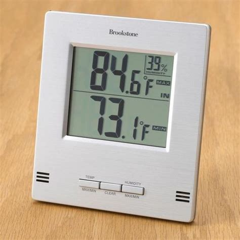 Termometer Manual indoor outdoor thermometers at brookstone buy now
