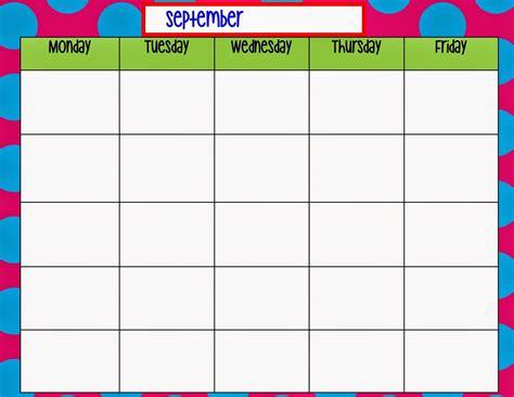 calendar template monday through friday blank calendar template monday through friday printable