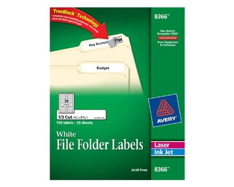 avery file labels template avery file folder labels for laser and inkjet printers 0