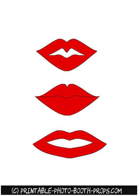 lips from wedding red black printable photo booth prop set free printable lips photo booth props