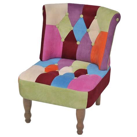 poltrone americane patchwork style armless chair vidaxl