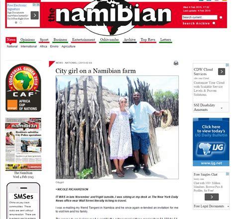 the namibian published my blog nicole marie richardson
