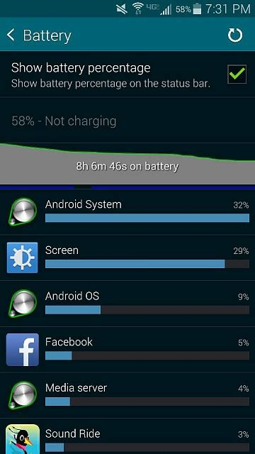 android forums android os top of s5 battery stats android forums at androidcentral