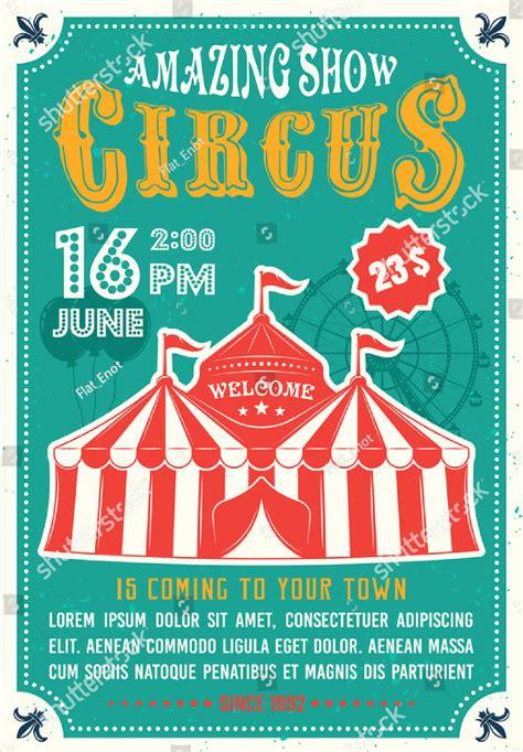 23 Circus Poster Templates Free Premium Download Circus Poster Template Free