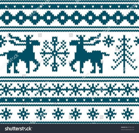 seamless knitted pattern vector seamless knitted christmas pattern vector illustration